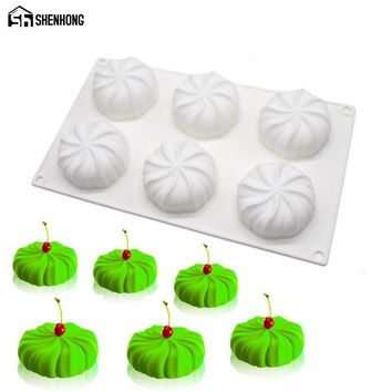 SHENHONG Pumpkin Lantern 3D Silicone Mold 6 Holes Cake Moulds Mousse For Ice Creams Chocolates Pastry Art Pan Bakeware Dessert
