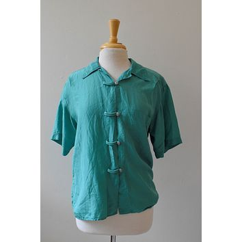 1990s The Limited Silk Button Down