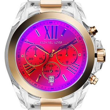 Michael Kors 'Bradshaw' Iridescent Crystal Resin Bracelet Watch, 43mm