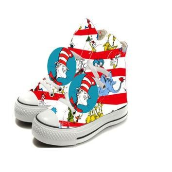 Limited Edition DR. SUESS Red Inspired Shoe (CONVERSE)