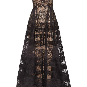Elie Saab - Tiered lace gown