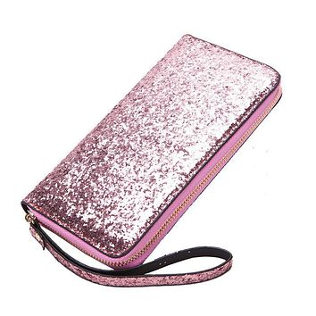 Women Sequined Clutch Wallets Women Blingbling Leather Long Purse for Lady Money Bags for Ladies Feminina Purse Card Holder
