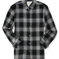 Aeropostale  Long Sleeve Core Plaid Woven Shirt - Black