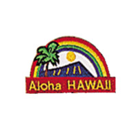 Embroidered Iron-On Aloha Hawaii Patch