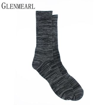 Cotton Men Socks Spring Fall Brand Fashion Business Quality Plus Size Hosiery Coolmax Compression Dresses 70 Male Crew Socks 3PK