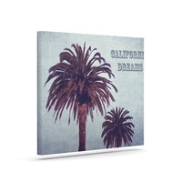 "Ann Barnes ""California Dreams"" Blue Brown Canvas Art"