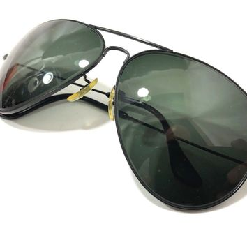 VINTAGE B&L RAY BAN G15 UV GLASS LARGE CLASSIC AVIATOR SUNGLASSES 62[]12mm