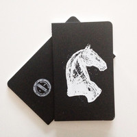 Horse ScreenPrint Moleskine Notebook  One Of A by LafayetteFactory