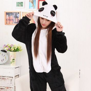 PEAPIX3 Sleepwear Lovely Winter Couple Cartoons Panda Animal Set Halloween Costume [9221221124]