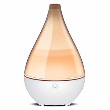 Vase-Shaped Essential Oil Diffuser, Elegant Transparent Cover Cool Mist Humidifier Ultrasonic Aromatherapy Diffusers with Unique Breathing Lights Waterless Auto-off for Home Yoga Office
