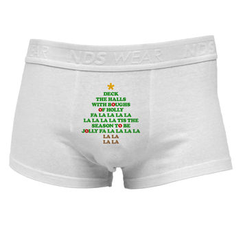 Deck the Halls Lyrics Christmas Tree Mens Cotton Trunk Underwear