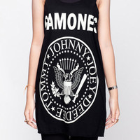 Ramones Shirt Johnny Ramones Punk Rock Shirt Women Tank Top Black Shirt Tunic Top Vest Sleeveless Women T-Shirt Size S M