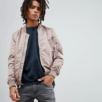 Alpha Industries MA-1 VF LW Reversible Bomber Jacket Slim Fit in Mauve/Chocolate Chip Camo at asos.com
