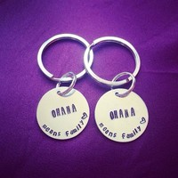 Ohana Means Family Key Chain Disney Lilo And Stitch Inspired Adjustable Ring Handmade SHIPS FROM USA from SHOW PONY