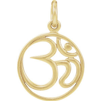 Sterling Silver Plated with 24K Gold Ohm Charm