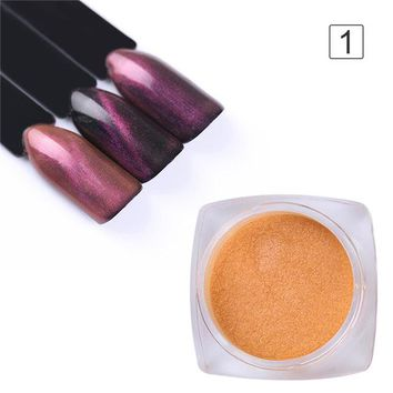 BORN PRETTY Chameleon Cat Eye Magnet Nail Powder UV Gel Glitter Pigment Decoration Black Base Needed