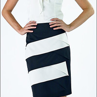 Diagonal Panel Skirt *CLEARANCE* [MSF3144] - $23.99 : Mikarose Fashion, Reinventing Modest Fashion