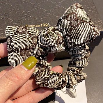 GUCCI New fashion more letter canvas bow-knot hair ring hair rope women
