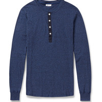 Schiesser - Long-Sleeved Cotton-Jersey Henley T-Shirt | MR PORTER