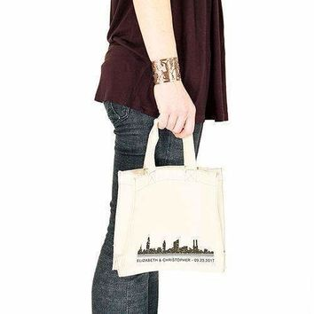 City Style Personalised Tote Bag Tote Bag with Gussets Charcoal (Pack of 1)