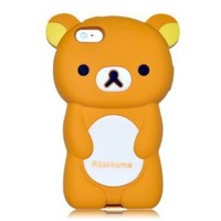 Brown Rilakkuma Bear Soft Silicone Case for iPhone 5 Cover for The New iPhone 5