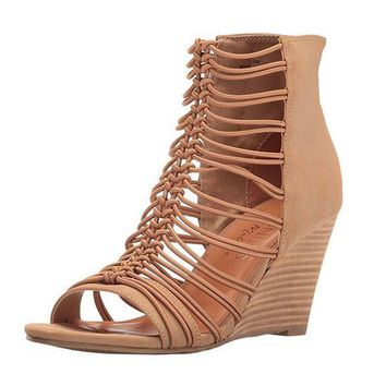 MDIGYW3 Coconuts by Matisse Parade Taupe Stacked Wedge
