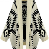 'The Audrey' Geometric Patterned Knitted Cardigan