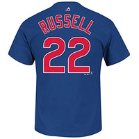 Addison Russell Chicago Cubs Youth Player T-Shirt by Majestic Select Youth Size: Medium - 10/12