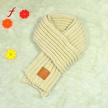 Lovely Autumn Scarf Winter scarves Boys Girls Baby Kid Solid scarfs Warm Knitted scarves Christmas Soft shawl Solid