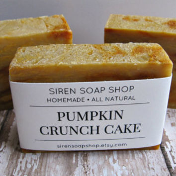 Pumpkin Crunch Cake Soap, Cold Process Soap