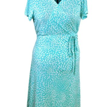 Ocean Breeze Knit Wrap Dress Just In
