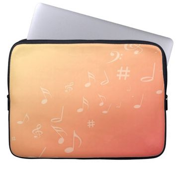 Peach Music Computer Sleeve