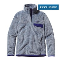 Patagonia Women's Special Edition Re-Tool Snap-T® Fleece Pullover | Leaden Blue - Classic Navy X-Dye