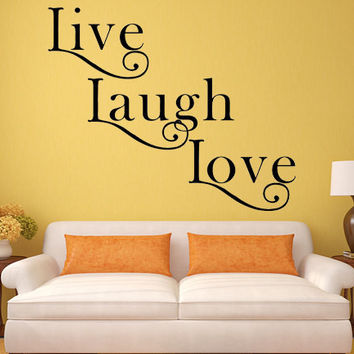 Live Laugh Love Decal Inspirational Love Quote Family Decal Love Wall Art Laugh Love Sticker