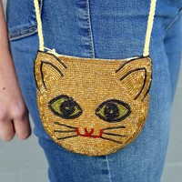 Vintage Beaded Kitty Coin Purse