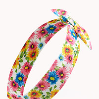 Bright Thing Floral Wire Headwrap