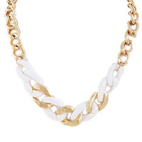 Gold & White Chain Necklace - My Jewel Candy
