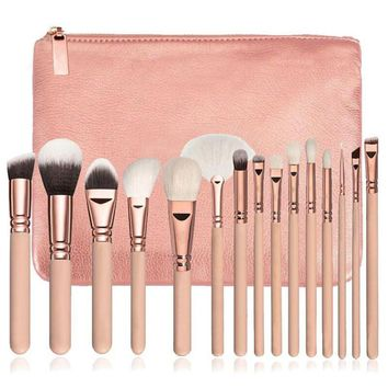 15 PCS Pro Makeup Brushes Set Cosmetic Complete Eye Kit + Case brochas para maquillaje beauty pincel de maquiagem profissional