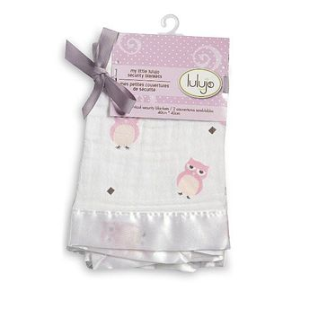 Mary Meyers Lulujo Cotton Security Blankets Pink Owl