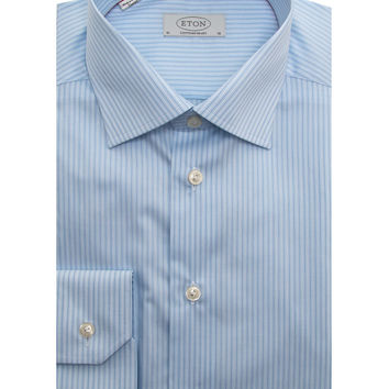 Eton Blue Stripe Dress Shirt