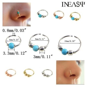 Nose Ring Piercing Fashion Nose Studs Septum Jewelry Nose Nail Body Jewelry Piercing For Women 2Pcs Body Puncture Piercing