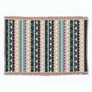 Modern Colorful Aztec Tribal Print Throw Blanket