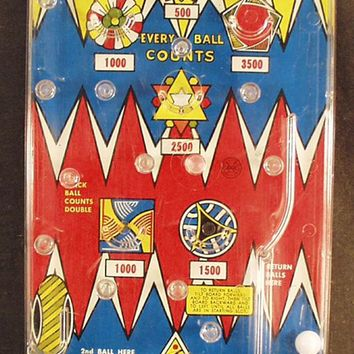 Vintage Marx Bagatelle Toy - Old Marble Game ca. 1950's