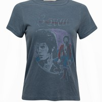 David Bowie Distressed Band Tee by Junk Food