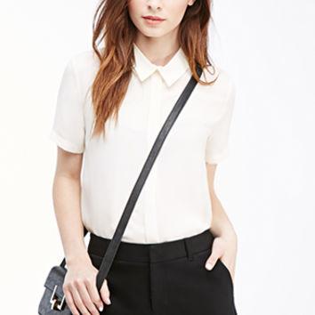 Flat-Front Woven Shorts