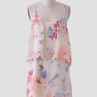 Away With The Wind Tiered Dress