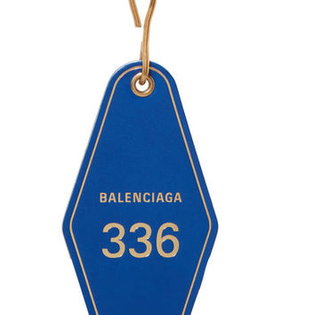 Balenciaga - Hotel printed leather keychain