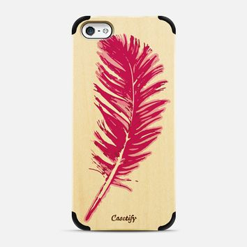 feather in pink iPhone 5 case by Julia Grifol Diseñadora Modas-grafica | Casetify