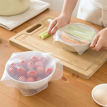 Stretchy Bowl Cover Silicone Suction Lid-bowl Cooking Pot lid Silicone Stretch Lid Dishware Silicone Suction Covers & Bowl Lid