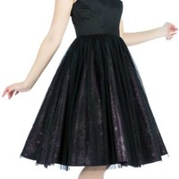 Hearts and Roses The Ritz Black Purple Satin Dress